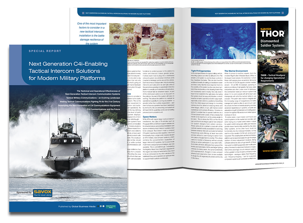 Special Report on Next Generation C4i Enabling Tactical Intercom Solutions for Modern Military Platforms